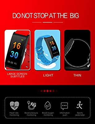 DAWO Fitness Tracker,Color Screen Activity Tracker Watch with Blood Pressure Blood Oxygen, IP67 Waterproof Smart Band with Heart Rate Sleep Monitor Calorie Counter Pedometer for Men, Women and Kids