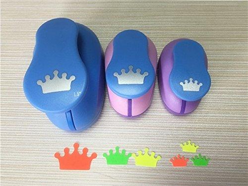 "Fascola 3PCS (1.5"",1"",5/8"") Crown shape craft punch set cortador de papel de scrapbook paper cutter Eva foam hole punches"