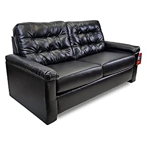 Lane rv 71 sofa sleeper black vinyl convertible couch loveseat w hide a bed Rv hide a bed couch
