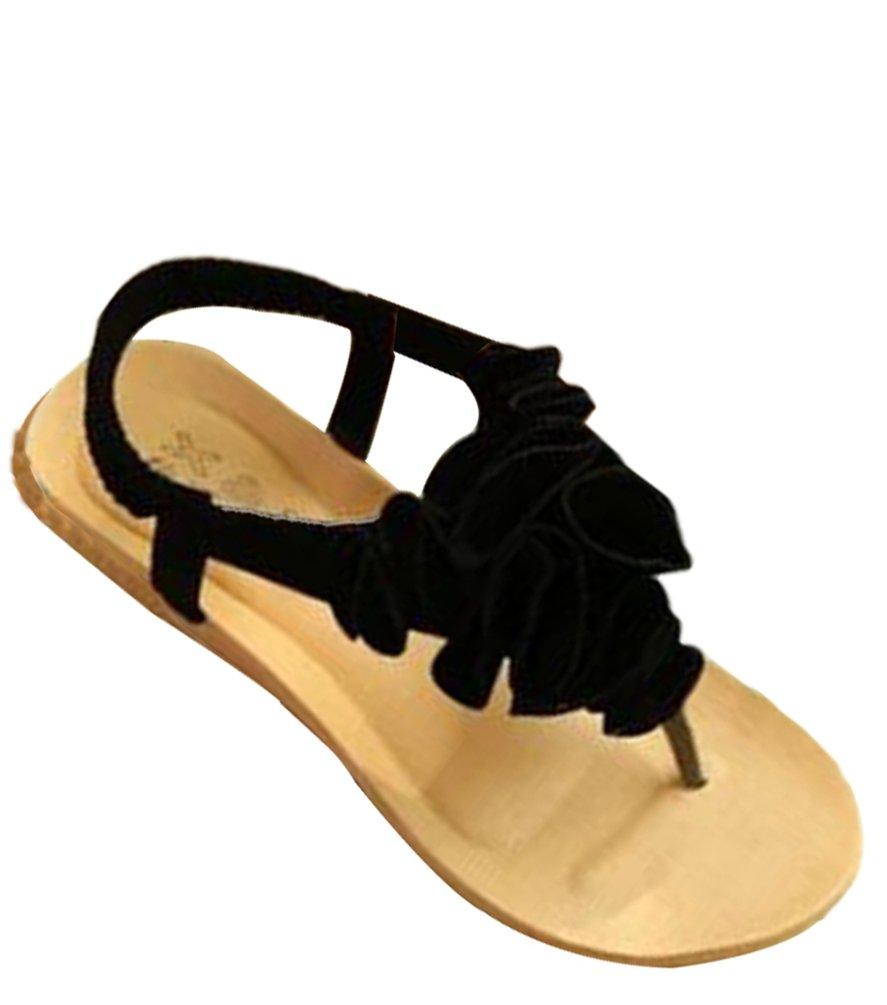 YOUJIA Femmes Boho Fleurs Clip Toe T-Strap Clip Chaussures de 1626 T-Strap Plage Plateforme Sandales Tongs Noir 0eb970f - tbfe.space