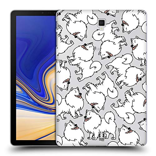 erican Eskimo Dog Breed Patterns 13 Hard Back Case for Samsung Galaxy Tab S4 10.5 (2018) ()