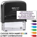 MaxMark Large Size - 5-Line Custom Return Self Inking Address Stamp - w/ 5-Year Warranty