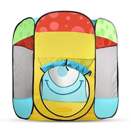 Tent Zip (Toydaloo Indoor/Outdoor Ball Pit Play Tent, Easy Fold - Zip Flat with Carrying Bag)