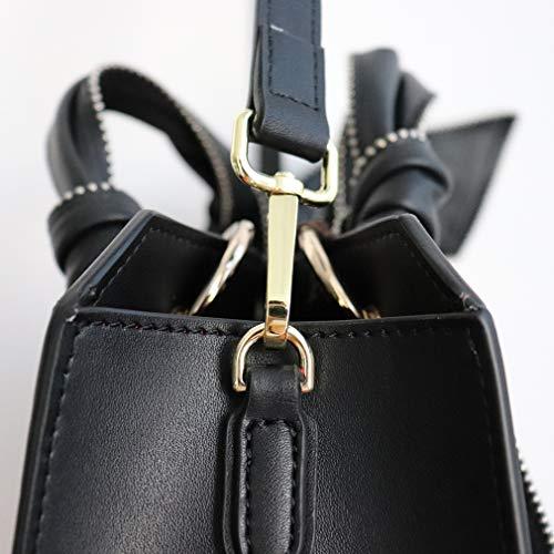 hombro mujer Negro para Negro Bolso Sintética al fashionbeautybuy única de talla Piel 4n08w1x