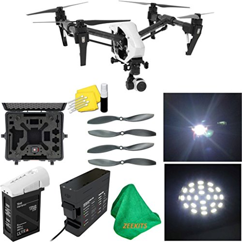 DJI-Inspire-1-V20-Quadcopter-With-Single-Remote-Deluxe-Hard-Case-4pcs-Carbon-Fiber-Propellers-ZEEKITS-Microfiber-Cloth-Lens-Cleaning-Kit-for-DJI-LED-Headlight