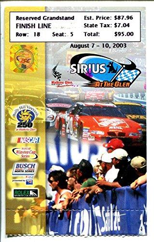 (Watkins Glen Raceway NASCAR Race Ticket Stub 8/2003-Grandstand seat #7-VG)