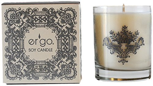 Ergo Soy Candle Pearl Collection (7oz Silver Rosemary) (Candle Rosemary Scented)