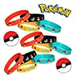 Gifts & Crafts Pokémon Party Supplies Silicone Wristband Bracelet Favors, 12 Count