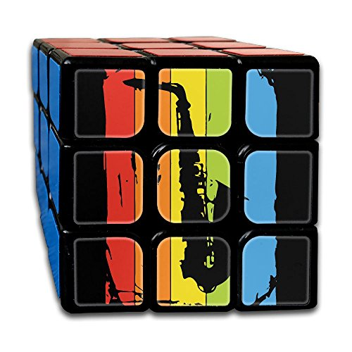 WYZYZHDQ Rainbow Saxophone Speed Cube Puzzle Brain Training Game Match Puzzle Toy for Kids Or Adults Speed Cube Stickerless Magic Cube