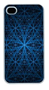 Blue Circles iPhone 4S/4 Case and Cover - Polycarbonate - White