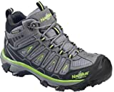 Nautilus 2202 Light Weight Mid Waterproof Safety Toe EH Hiking Shoe, Grey, 10.5 W US