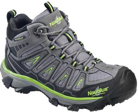 - Nautilus 2202 Light Weight Mid Waterproof Safety Toe EH Hiking Shoe, Grey, 9.5 W US