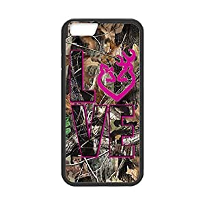 Diy Yourself Browning Camo Deer Love for iphone 6 plusd 5.5 case cover Laser Print Technology with KBZV3cP1RET Shockproof protective Rubber Sides