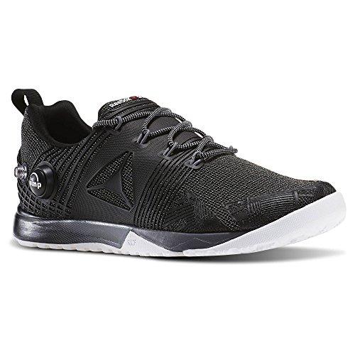 Reebok Chaussures De Formation Reebok Crossfit Nano Pompe 2.0 Noir / Blanc / Alliage