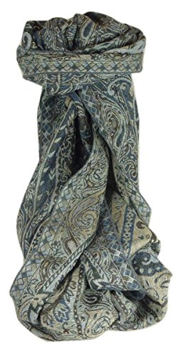 Muffler Scarf 3623 in Fine Pashmina Wool from the Heritage Range by Pashmina & Silk by Pashmina & Silk (Image #4)