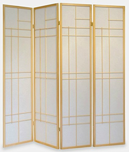 TREND ROOM DIVIDER SCREEN - NATURE - 4 PANEL DOUBLE SIDED FOLDABLE PRIVACY SCREEN - THESE ARE HIGH QUALITY DRESSING SCREENS / PARTITIONS FROM ROOM DIVIDERS UK