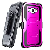 Grand prime Case,Galaxy G530 Case,LUOLNH Heavy Duty Shockproof Durable Full Body Protection Rigged Hybrid Case with belt clip holster and Kickstand for Samsung Grand Prime G530H/G5308W(Purple)