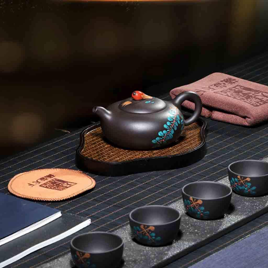 Tea Cozies Zisha Pot Pure Handmade Card Cover Household teapot Tea Set Famous Original Mineral Fruit teapot Famous Set Non-Ceramic (Color : Brown, Size : 15.7117.3cm) by Tea Cozies (Image #4)