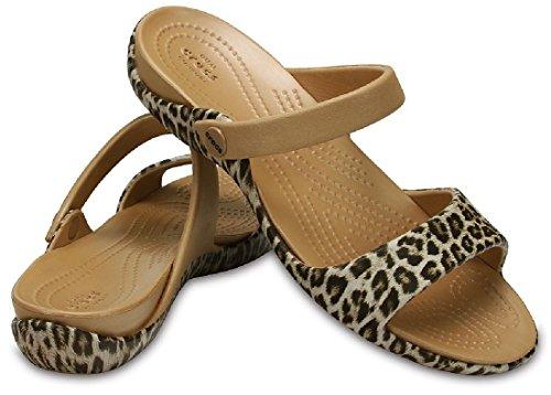 Crocs Kelli Graphic Ol Sandalen Leopard Damen 37-38