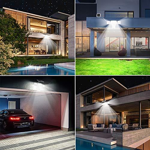 Harmonic Solar Security Lights Outdoor,Super Bright Solar Motion Sensor Light with 3 Adjustable Heads,1500ML 6000K,IP65 Waterproof Flood Light Outdoor for Garage,Yard,Patio,Entryways,Garden