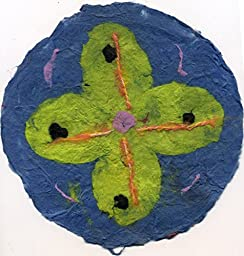 Paper Flowers pulp painting on handmade paper