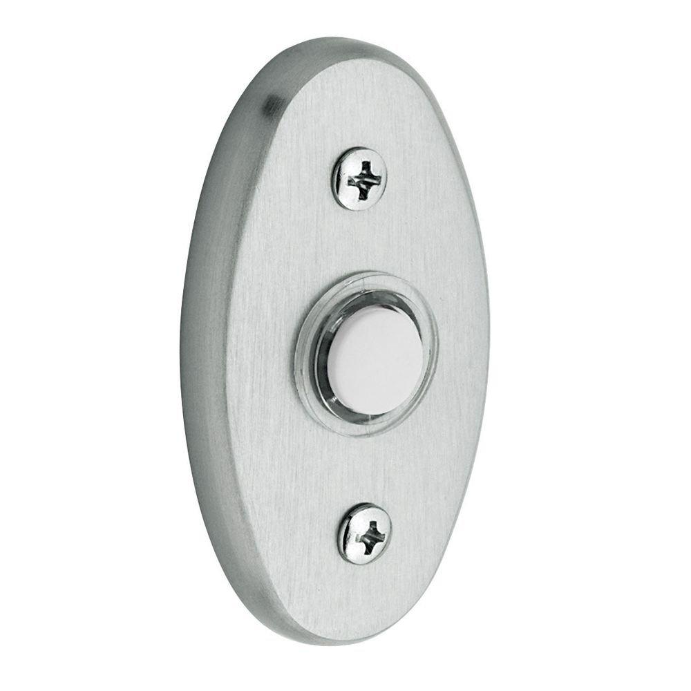 Baldwin 4858264 Oval Bell Button, Satin Chrome