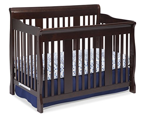 [Stork Craft Tuscany 4-in-1 Convertible Crib, Espresso] (Tuscany Base)