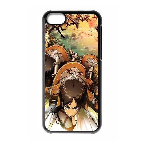 Attack On Titan 33 coque iPhone 5C Housse téléphone Noir de couverture de cas coque EBDOBCKCO13754