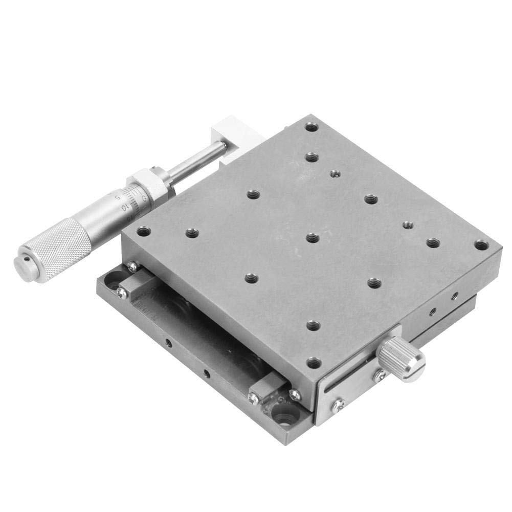 Single Shaft Stainless Steel Manual Linear Platform 80x80mm Linear Guide SPXSG80 Ball-Type for Optical Instruments