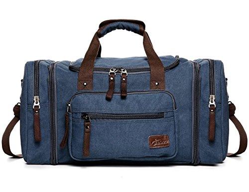 Fresion Unisex Canvas Shoulder Backpack Large Travel Tote Luggage Men's...