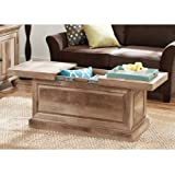 Crossmill Traditional Style Slide-out Top design Concealed storage under top Collection Coffee Table, Weathered