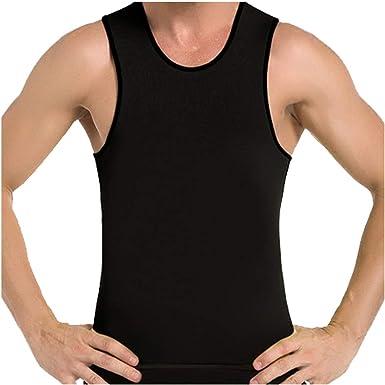 b121565f2f8 Amazon.com  Frogwill Mens Posture Slimming Body Shaper Vest Shirt Abs  Abdomen Slim  Clothing