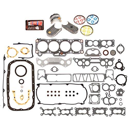 Evergreen Engine Rering Kit FSBRR6002EVE\0\0\0 Fits 84-87 Mazda 626 Turbo B2000 2.0 SOHC FE FE-T Full Gasket Set, Standard Size Main Rod Bearings, Standard Size Piston Rings