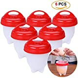 6 egg cooker - HaWenny Kitchen Egg Cooker ,Egg Cups,Egg Cooker Hard & Soft Make,Hard Boiled Eggs Without the Shell, BPA Free,Non Stick Silicone, Poacher, Boiled, Steamer,AS SEEN ON TV,6 Pack,Each Egg Cup Is 3*2.5*2.5 Inches