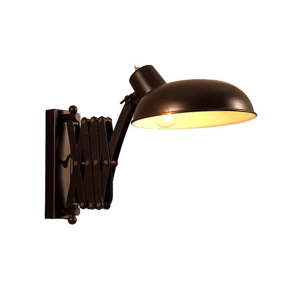 Vintage Metall Wandleuchte Industrie Verstellbare Leselampe Wandlampe Erweißerbar Innen Wandlampe E27 für Wohnzimmer Büro Flur Arbeiten Bedside Büro Schlafzimmer