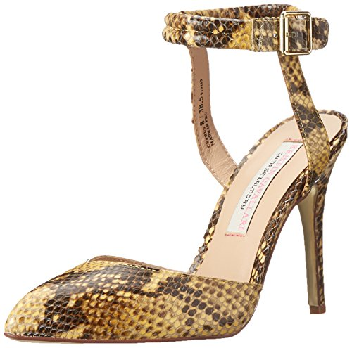 Lavandería China Kristin Cavallari Mujeres Cyprus Dress Pump Yellow Python