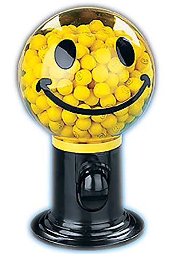 Gumball Machine - Plastic 9 inch - Smile Face by Fun Express ()