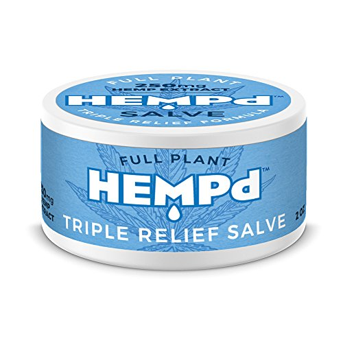 Hemp Plant - HEMPd Full Plant Hemp Extract Triple Relief Salve, 250 mg. per 2 oz. Jar