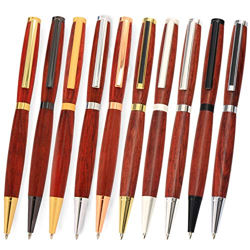 Legacy Woodturning Slimline Pen Kit 10 Piece Variety Pack, 10 Different Finishes
