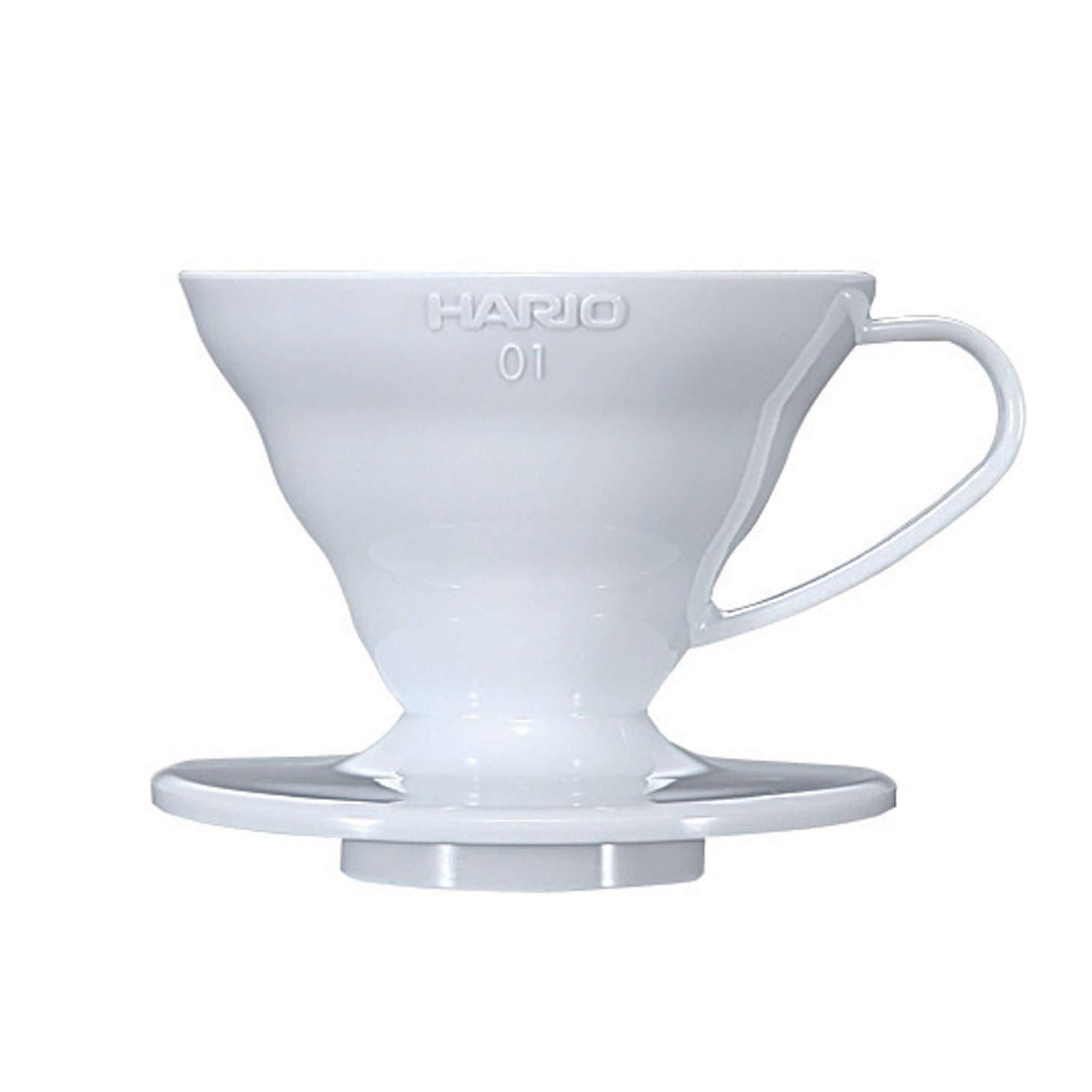Hario V60 01 Coffee Dripper, White VD-01W