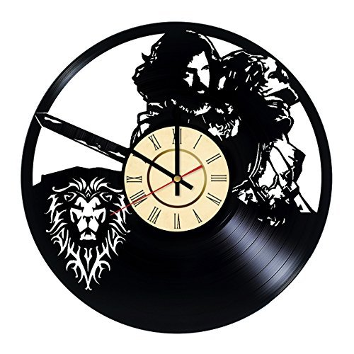 Fun Door World of Warcraft Legion Handmade Vinyl Record Wall Clock for Birthday Wedding Anniversary Valentine's Mother's Ideas for Men and Women him and her]()