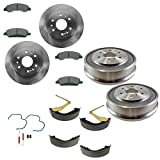 #7: Ceramic Disc Brake Pads Shoes Rotor & Drum Kit with Hardware for GM Pickup Truck