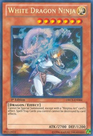 Yu-Gi-Oh! - White Dragon Ninja (ORCS-EN084) - Order of Chaos - Unlimited Edition - Secret Rare