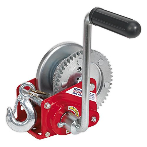 (Sealey Geared Hand Winch with Brake & Cable 540Kg Capacity GWC1200B)
