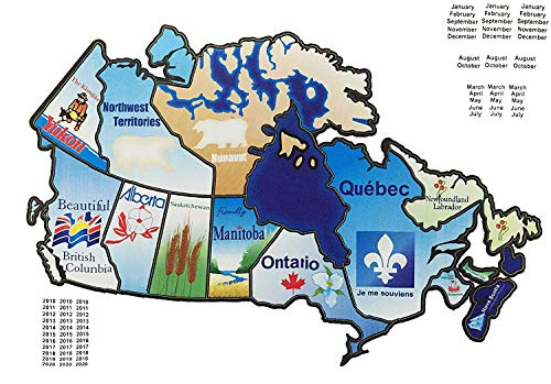 RV Canada Stickers Motorhome Map Sticker Trailer Canadian