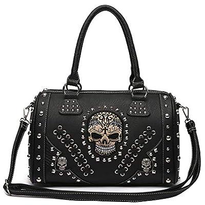 Sugar Skull Day of the Dead Punk Art Purse Removable Strap Women Satchel Handbag Shoulder Bag Wallet Set