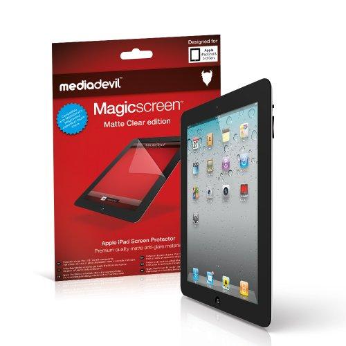 MediaDevil Apple iPad 2/3 / 4 (2nd / 3rd / 4th Generation, 2011-2012) Screen Protector: Magicscreen Matte Clear (Anti-Glare) Edition - (2 x Protectors)