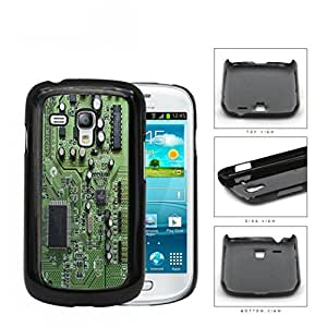 Green and Silver Computer Circuit Board Technology Hard Plastic Snap On Cell Phone Case Samsung Galaxy S3 SIII I9300