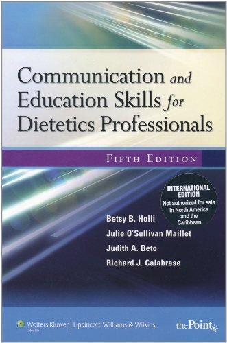 Communication & Education Skills Dieteti by Betsy B. Holli (2010-04-29)