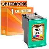 Gorilla Ink Set Cartridges Compatible with HP 337 XL & HP 344 XL DeskJet 5940 5950 6940 6980 6985 6988 Officejet 100 150 Mobile H470 Pro K7100 BK 20 ml & CL 21 ml Capacity (06) 1x Color